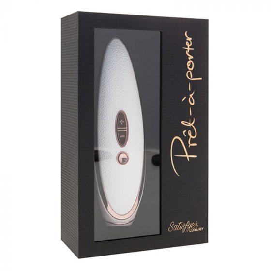 Satisfyer Luxury Pret a Porter léghullámos csiklóizgató, vibrációval (fehér)