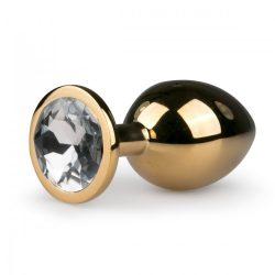 Easy Toys fém fenékdugó, áttetsző kristállyal (M méret, arany)