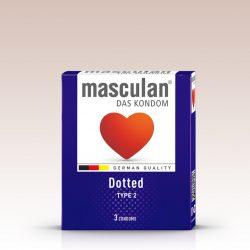 Masculan Dotted rücskös felületű óvszer (3 db)