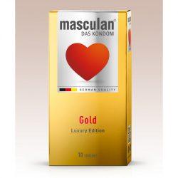 Masculan Gold arany színű, vanília illatú óvszer (10 db)