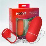 Moove vibrációs tojás, távirányítóval (L méret - piros)