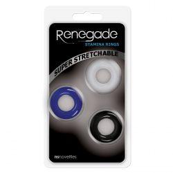 Renegade Stamina Rings 3 db rugalmas péniszgyűrű