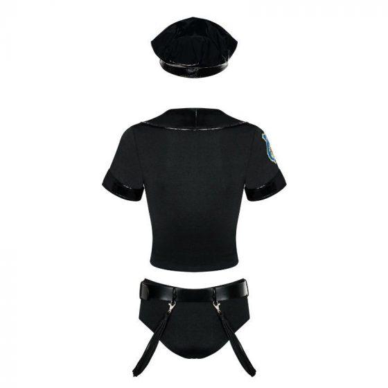 Obsessive rendőrnő jelmez (fekete)