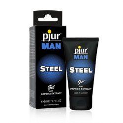 pjur Man Steel bőrápoló gél intim területre, uraknak (50 ml)