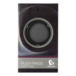Rocks-Off Rudy-Rings dupla péniszgyűrű (fekete)
