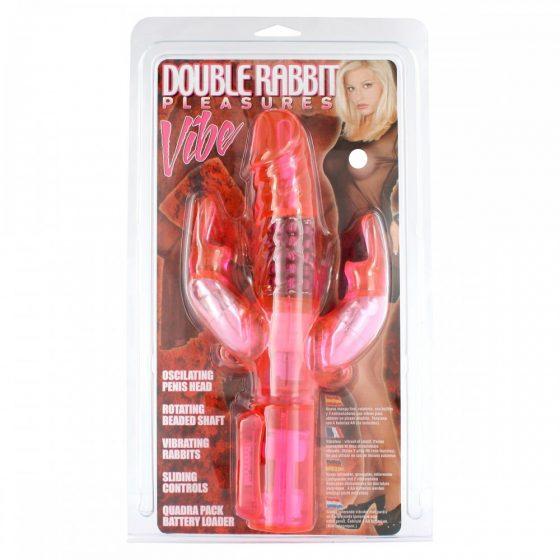 Double Rabbit Pleasures háromágú vibrátor