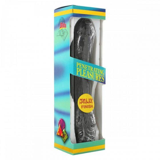 Penetrating Pleasures realisztikus, zselés vibrátor (fekete)